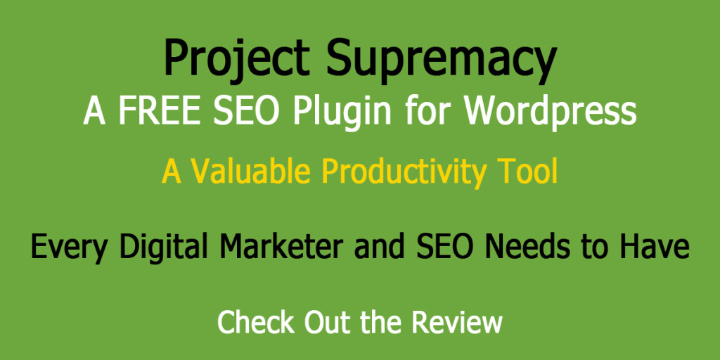 Project Supremacy WP Plugin